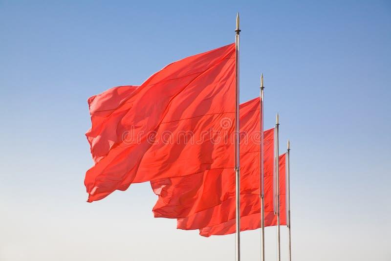 Bandiera rossa immagini stock libere da diritti