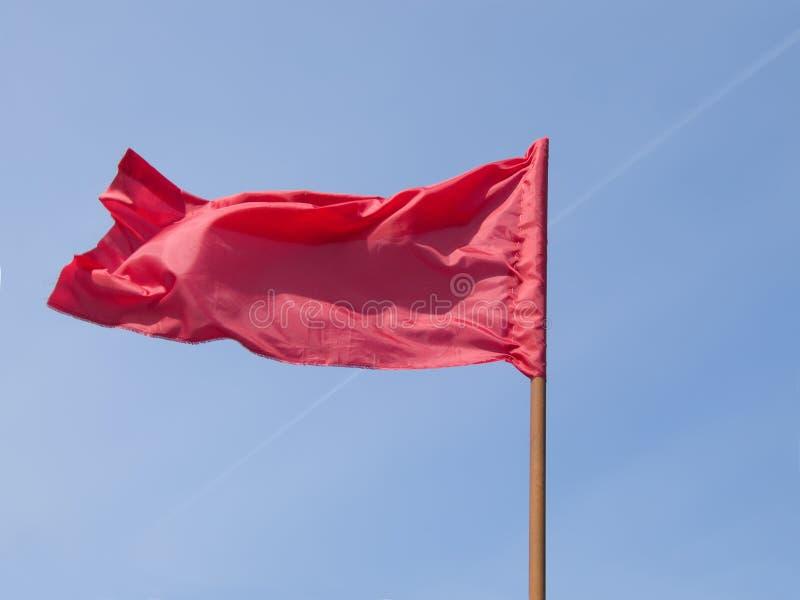 Bandiera rossa fotografie stock