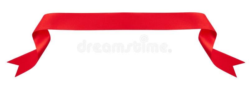 Bandiera rossa del nastro fotografia stock libera da diritti