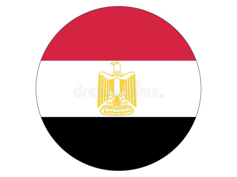 Bandiera rotonda dell'Egitto illustrazione di stock