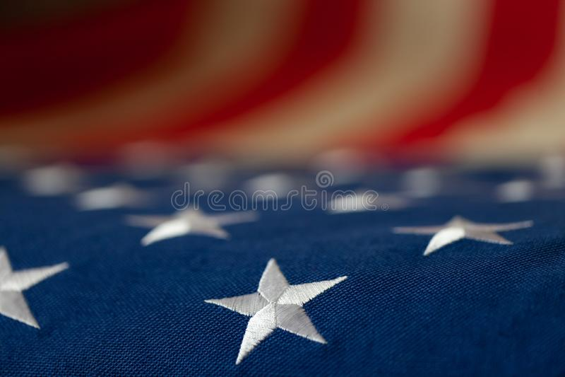 Bandiera rustica degli Stati Uniti - fine sul colpo dello studio immagini stock libere da diritti