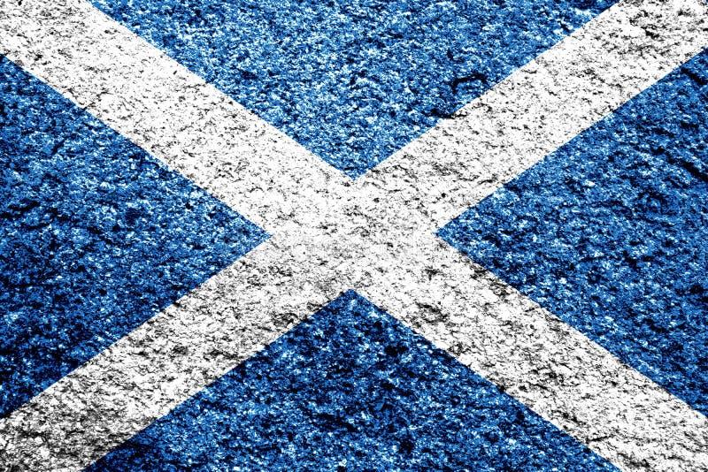 Bandiera scozzese in difficoltà immagini stock
