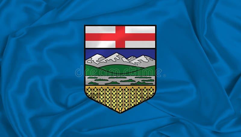 Bandiera Seta Alberta fotografie stock libere da diritti