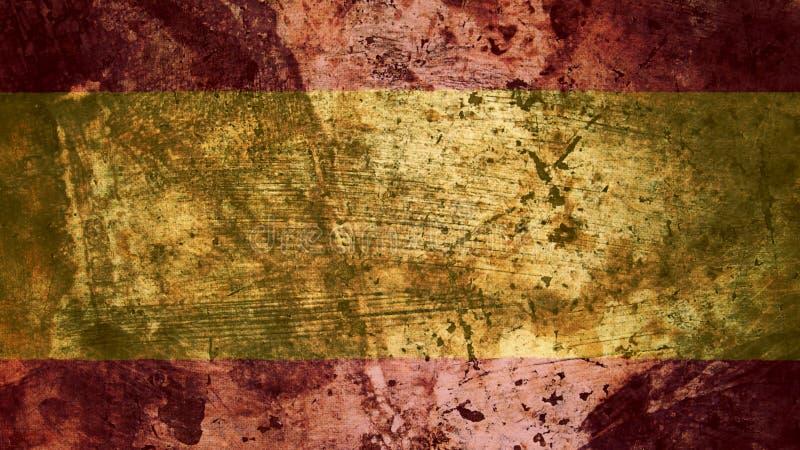 Bandiera spagnola molto Grungy, struttura del fondo di lerciume della Spagna illustrazione di stock