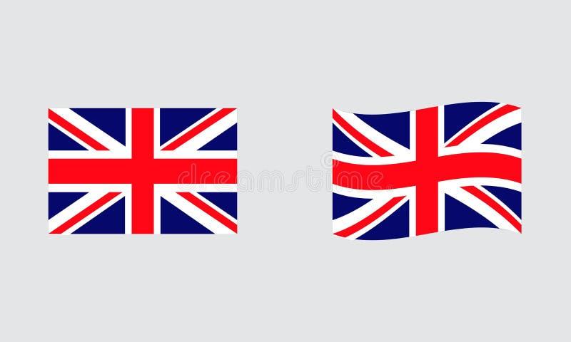 Bandiera standard editoriale della bandiera dell'Inghilterra e bandiera ondulata royalty illustrazione gratis