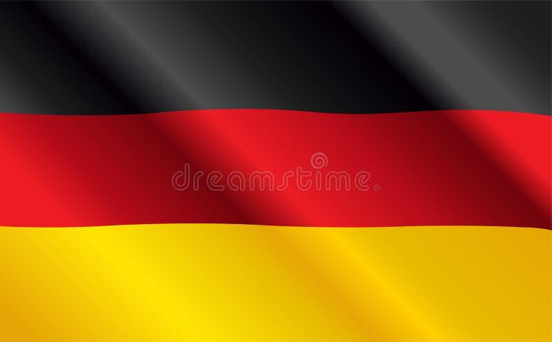 Bandiera tedesca illustrazione vettoriale