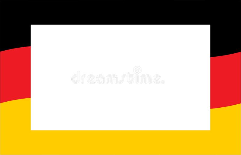 Bandiera tedesca con Libro Bianco per testo illustrazione vettoriale