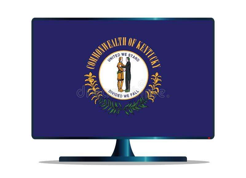 Bandiera TV dello stato del Kentucky su bianco royalty illustrazione gratis