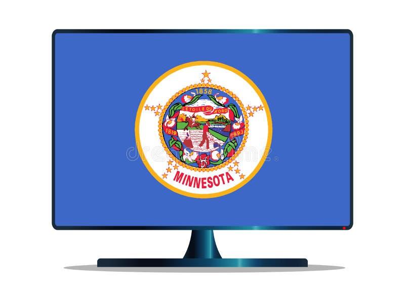 Bandiera TV dello stato del Minnesota su bianco royalty illustrazione gratis