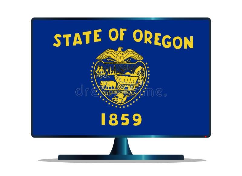 Bandiera TV dello stato dell'Oregon su bianco royalty illustrazione gratis