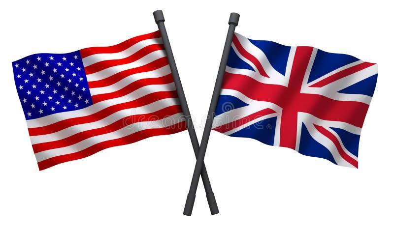 Bandiera U.S.A. e Gran Bretagna illustrazione vettoriale