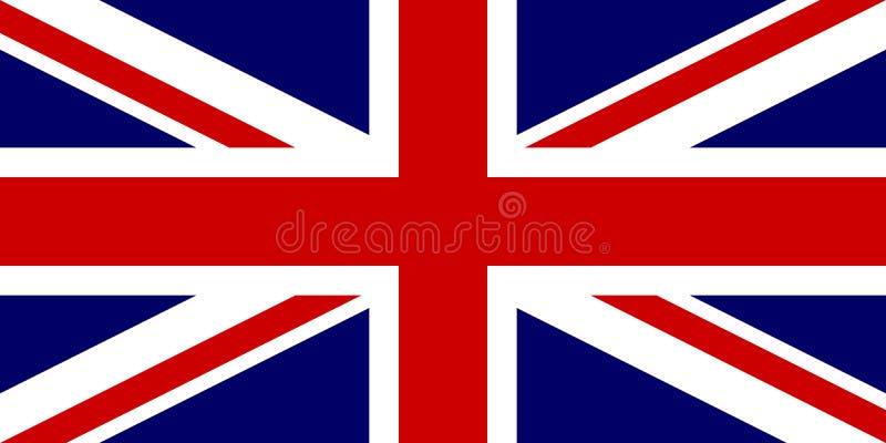 Bandiera ufficiale del Regno Unito di Gran Bretagna e Irlanda del Nord Bandiera BRITANNICA aka Union Jack Illustrazione di vettor illustrazione vettoriale