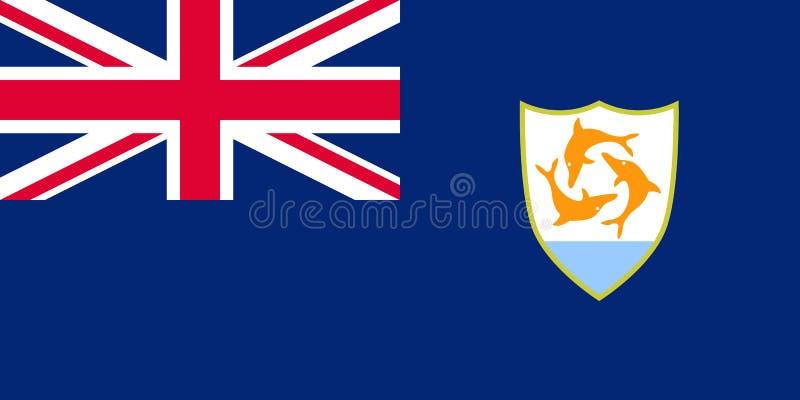 Bandiera ufficiale di vettore di Anguilla illustrazione vettoriale