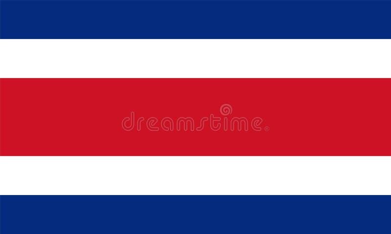 Bandiera ufficiale di vettore di Costa Rica royalty illustrazione gratis