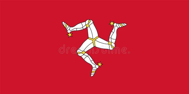 Bandiera ufficiale di vettore dell'Isola di Man illustrazione di stock
