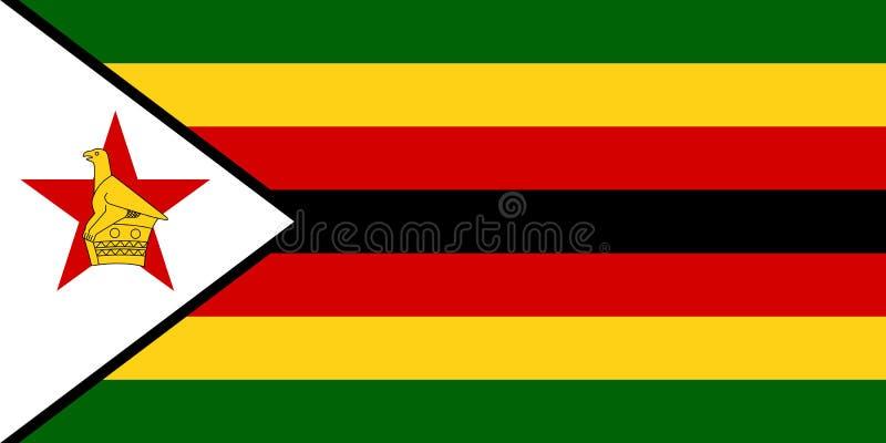 Bandiera ufficiale di vettore dello Zimbabwe royalty illustrazione gratis