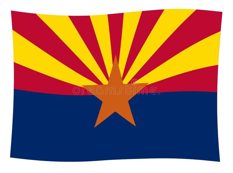 Bandiera Wave dello stato dell'Arizona illustrazione vettoriale