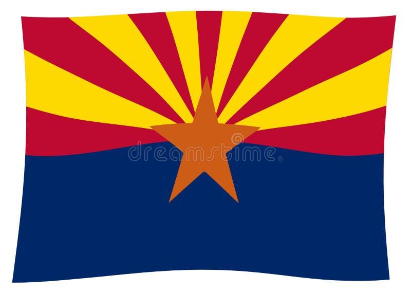 Bandiera Wave dello stato dell'Arizona royalty illustrazione gratis