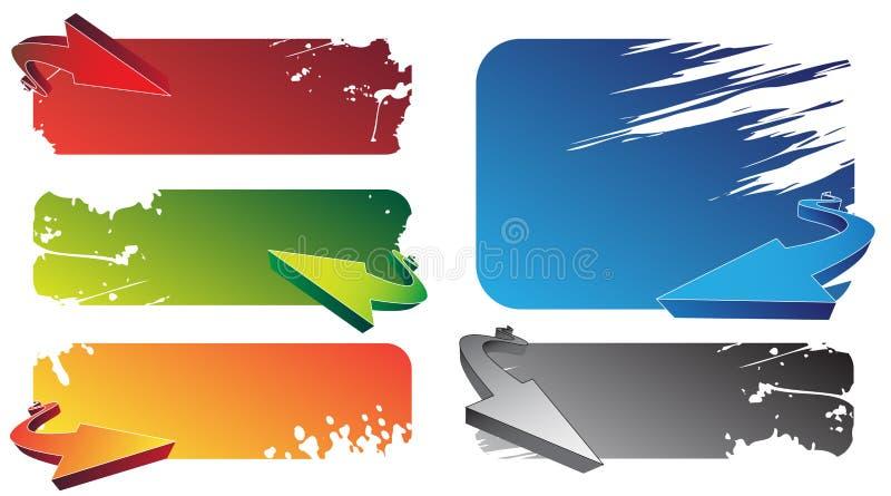 Bandiere illustrazione vettoriale