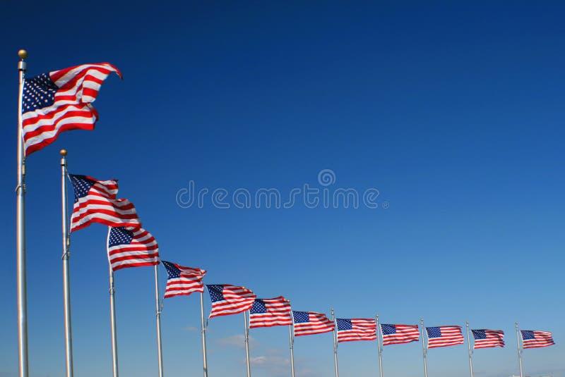 Bandiere americane fotografia stock libera da diritti