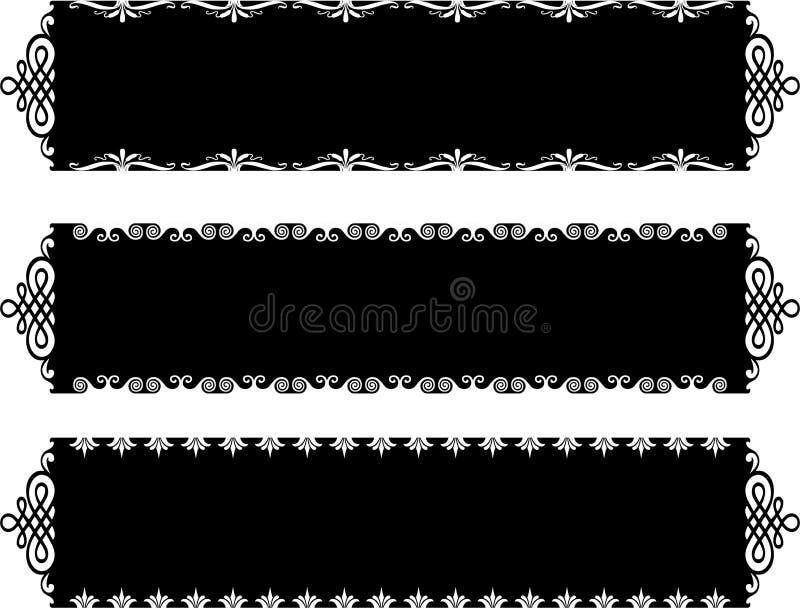 Bandiere antiche royalty illustrazione gratis
