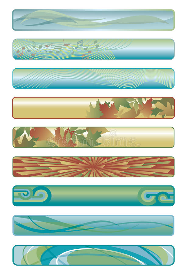 Bandiere Assorted di Web illustrazione di stock