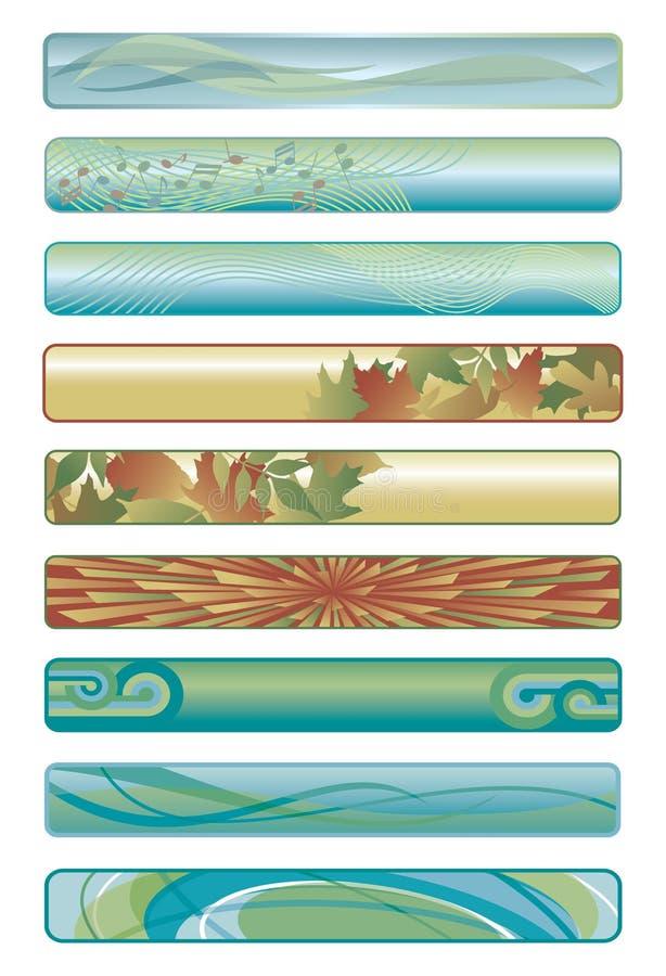 Bandiere Assorted di Web illustrazione di stock