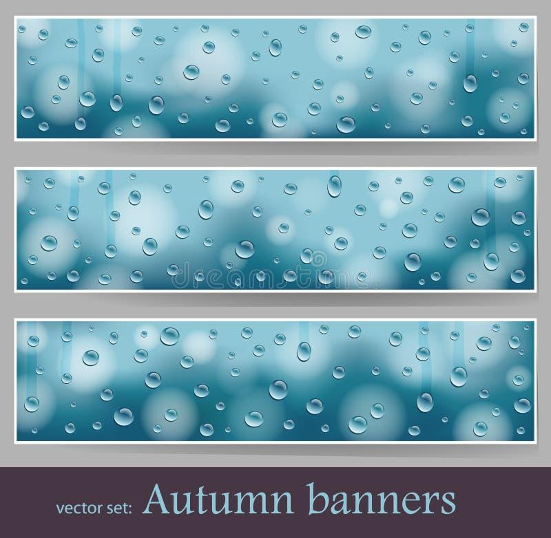 Bandiere astratte illustrazione vettoriale