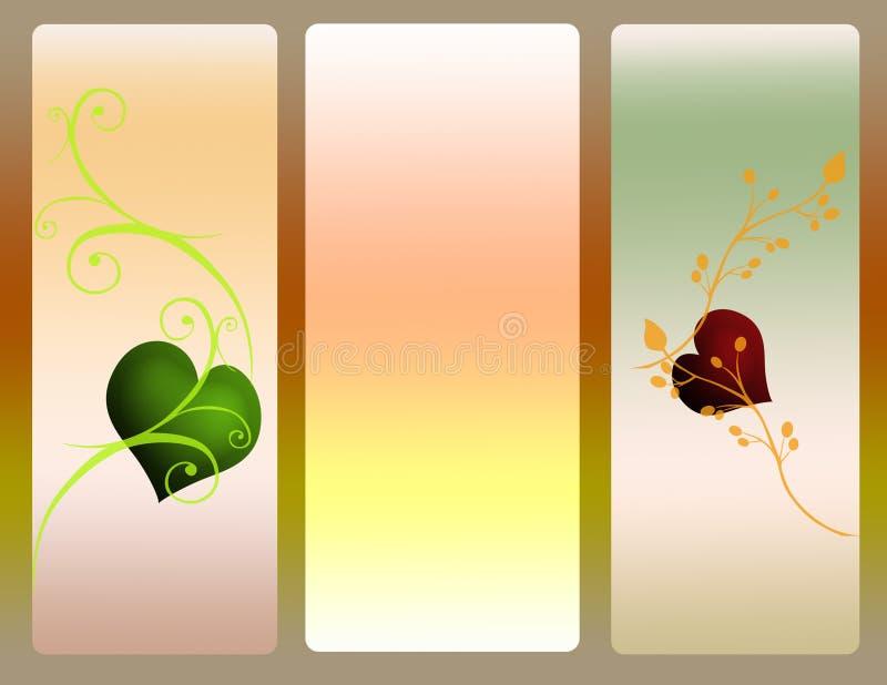 Bandiere astratte di amore royalty illustrazione gratis