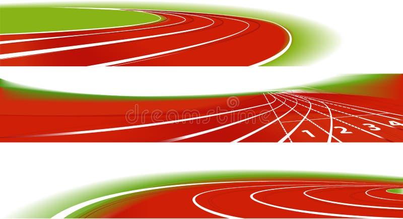 Bandiere atletiche di sport royalty illustrazione gratis