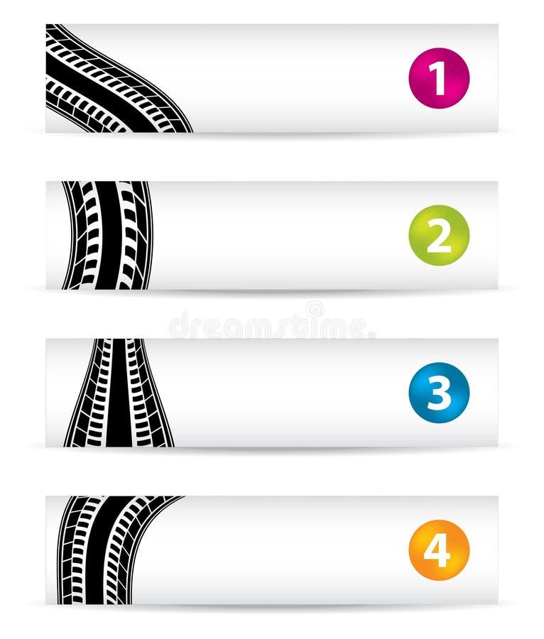 Bandiere con il disegno speciale della gomma royalty illustrazione gratis