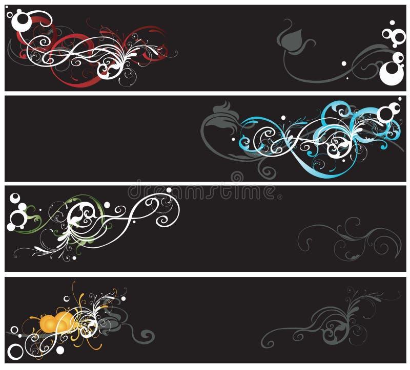 Download Bandiere decorative illustrazione vettoriale. Illustrazione di immaginazione - 7321571
