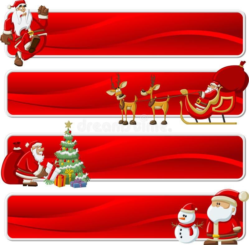 Bandiere del Babbo Natale su tempo di natale royalty illustrazione gratis
