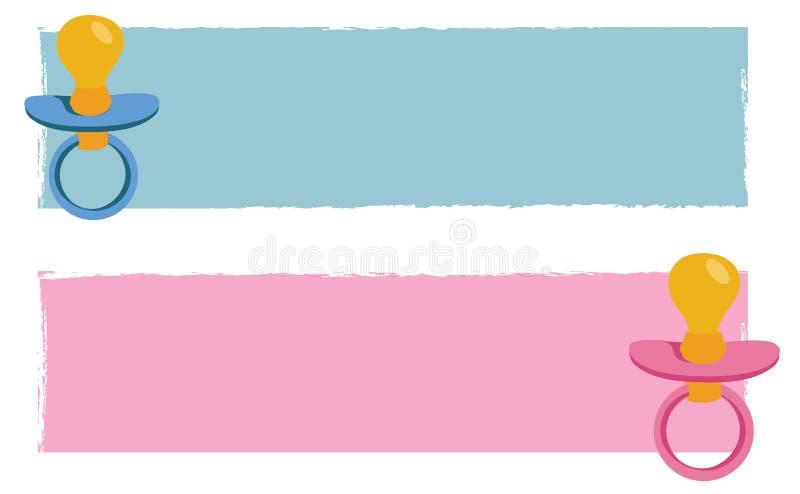 Bandiere del bambino illustrazione di stock