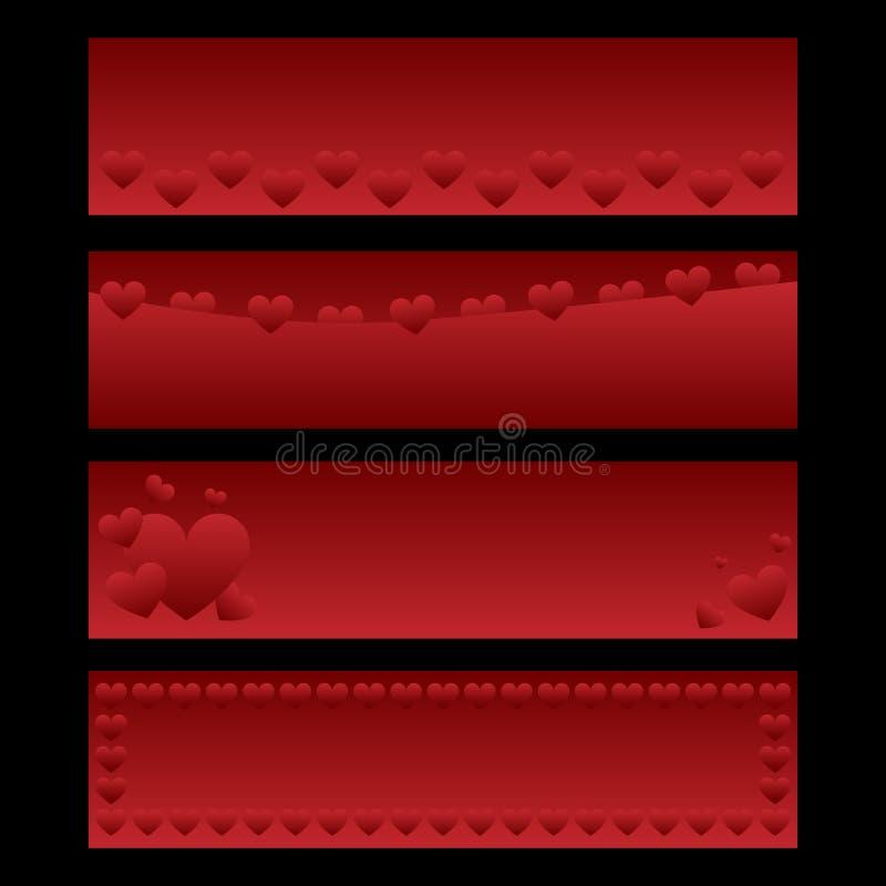 Bandiere del biglietto di S. Valentino royalty illustrazione gratis