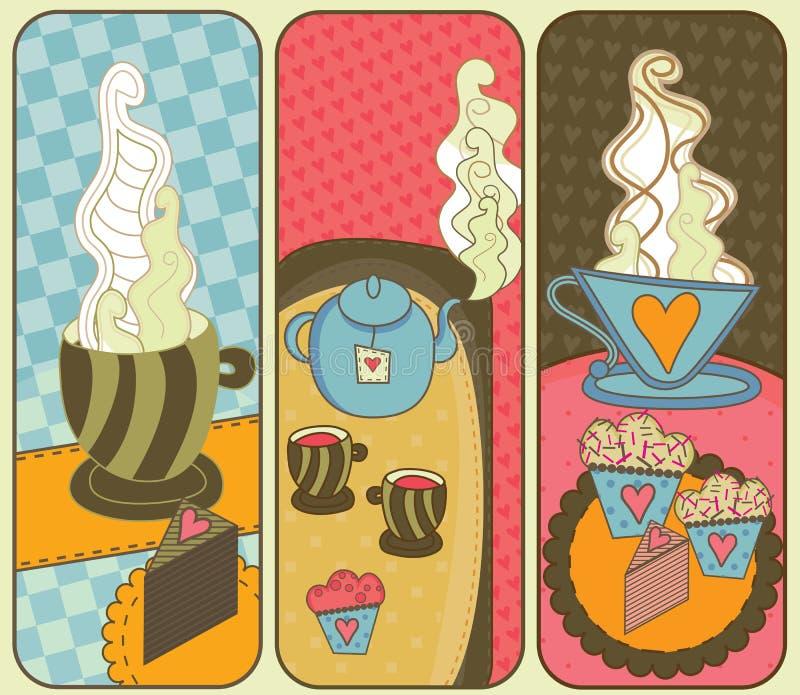 Bandiere del caffè illustrazione vettoriale