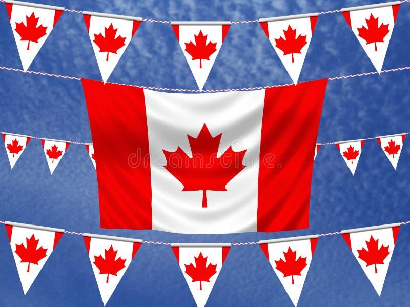 Bandiere del Canada illustrazione vettoriale