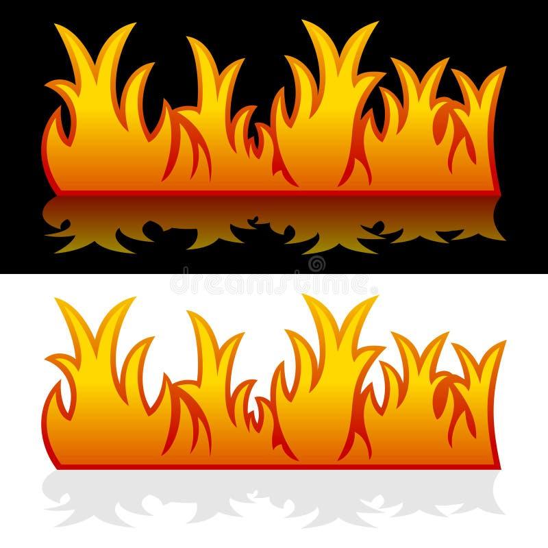 Bandiere del fuoco illustrazione vettoriale