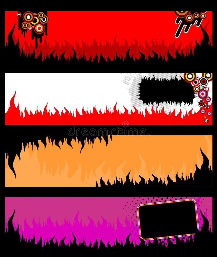 Bandiere del grunge della fiamma royalty illustrazione gratis