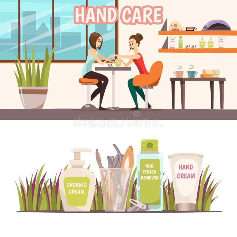 Bandiere del manicure impostate illustrazione di stock