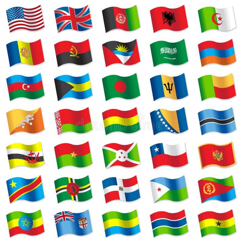 Bandiere del mondo 2 royalty illustrazione gratis