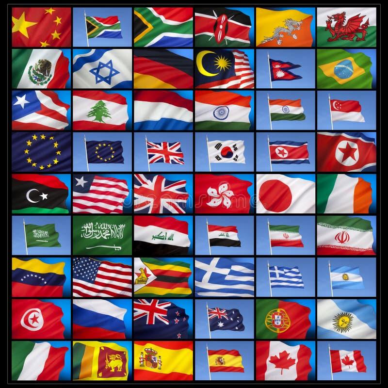 Bandiere del mondo immagine stock libera da diritti