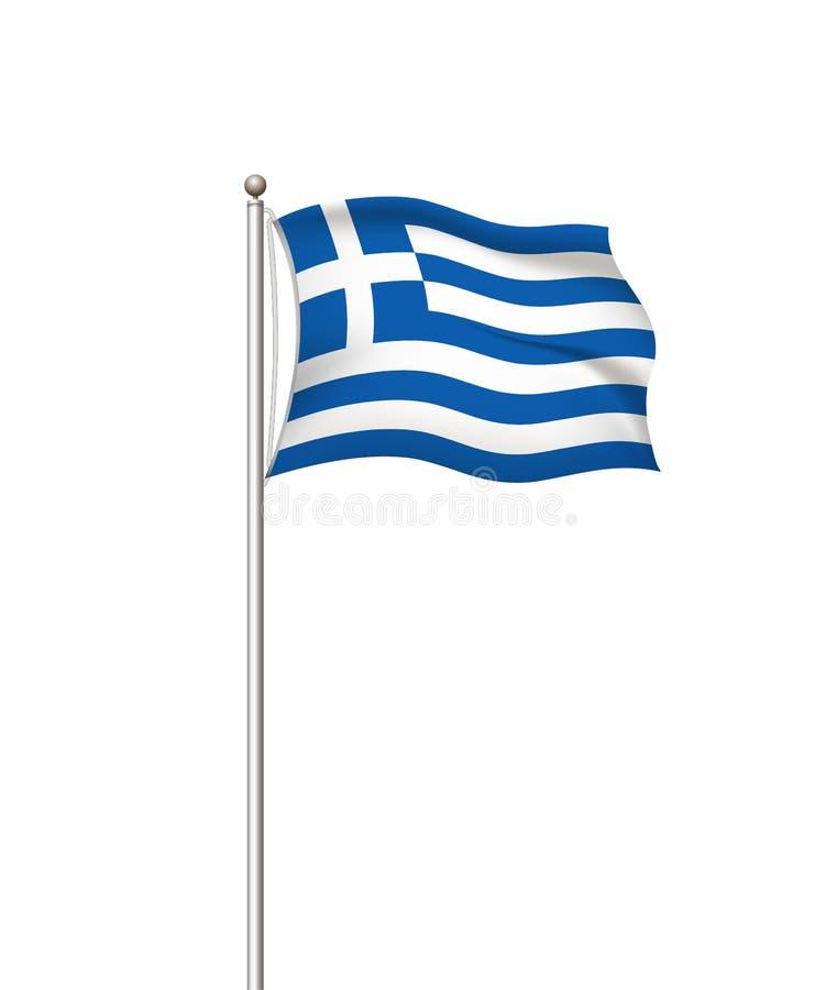 Bandiere del mondo Fondo trasparente della posta della bandiera nazionale del paese La Grecia Illustrazione di vettore royalty illustrazione gratis