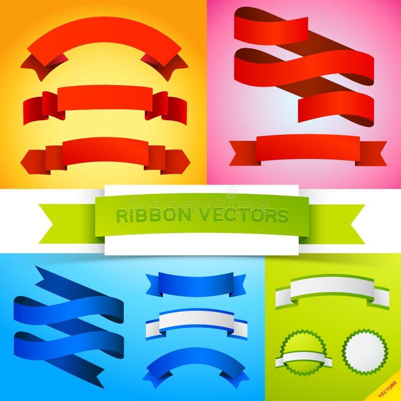 Bandiere del nastro di vettore illustrazione vettoriale