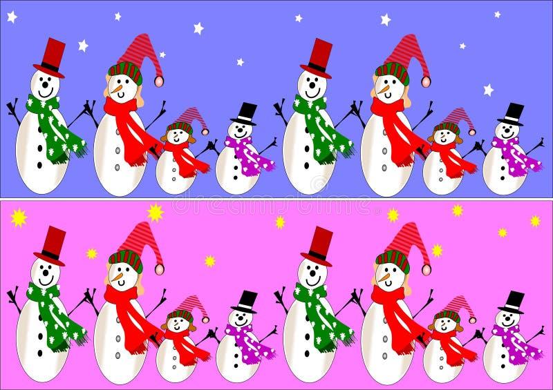 Bandiere del pupazzo di neve illustrazione vettoriale