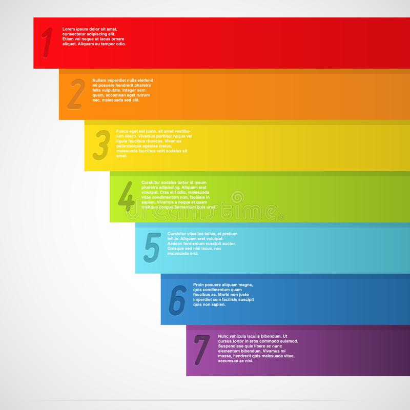 Bandiere del Rainbow con i numeri illustrazione vettoriale