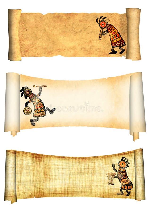 Bandiere dell'accumulazione con i reticoli africani royalty illustrazione gratis