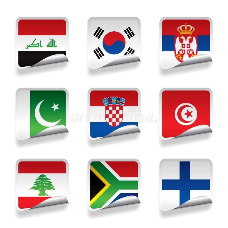 Bandiere dell'autoadesivo illustrazione di stock