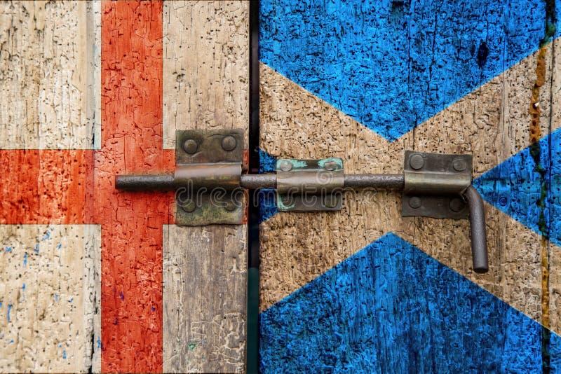 Bandiere dell'Inghilterra v Scozia fotografie stock libere da diritti
