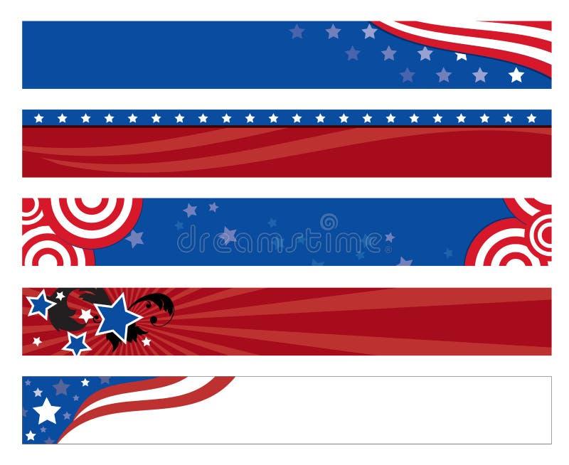 Bandiere della bandiera americana illustrazione vettoriale